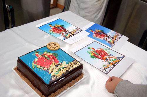 イラストプレートケーキ