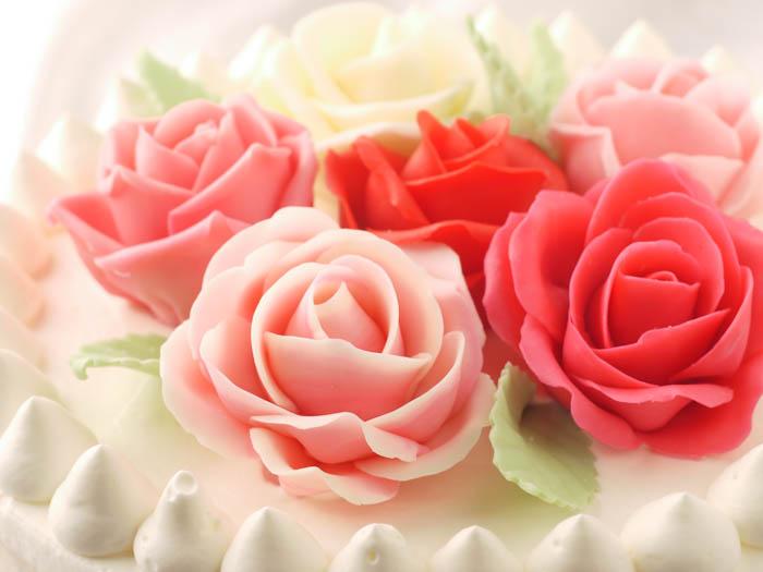 バラのケーキ