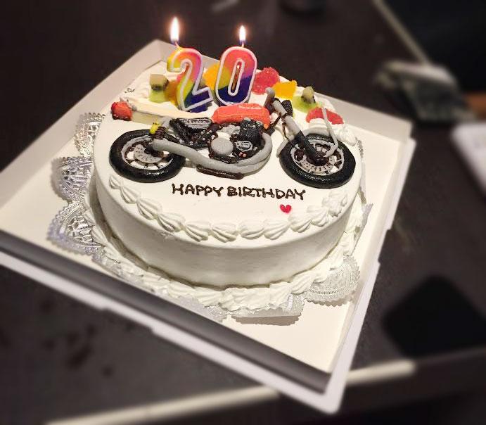 バイク3Dケーキ2