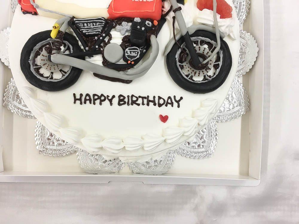 バイクの3Dケーキ1
