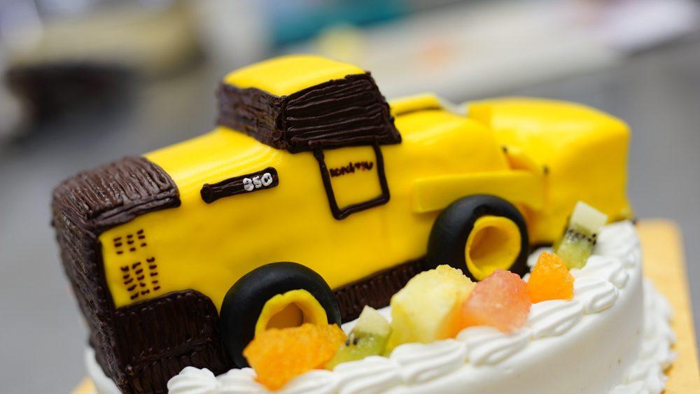 ホイールローダー 誕生日ケーキ