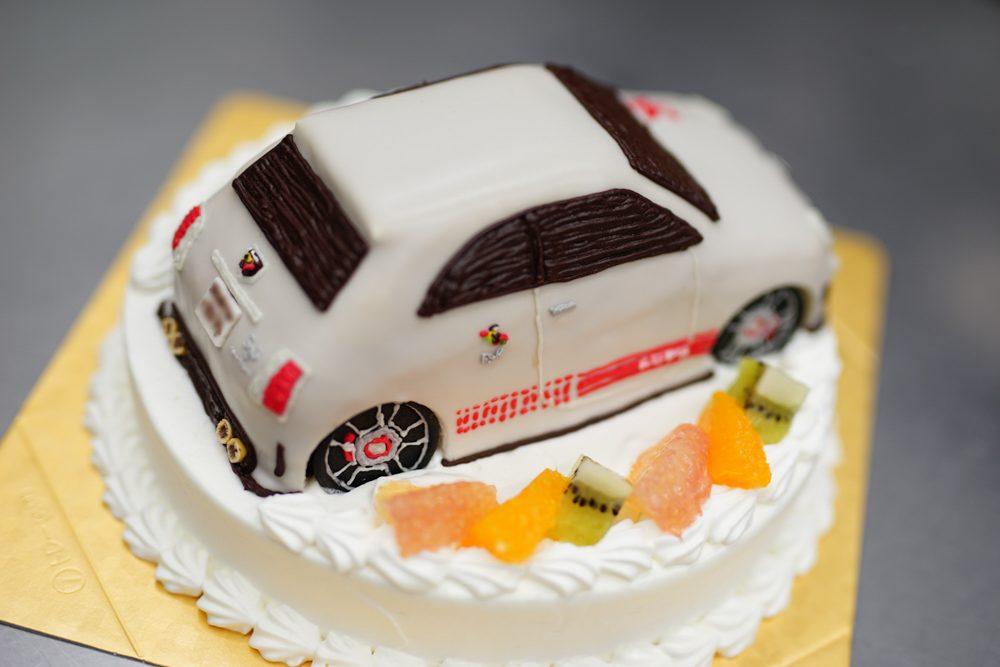 フィアットアバルト3Dケーキ