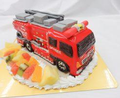 消防車の3Dケーキ