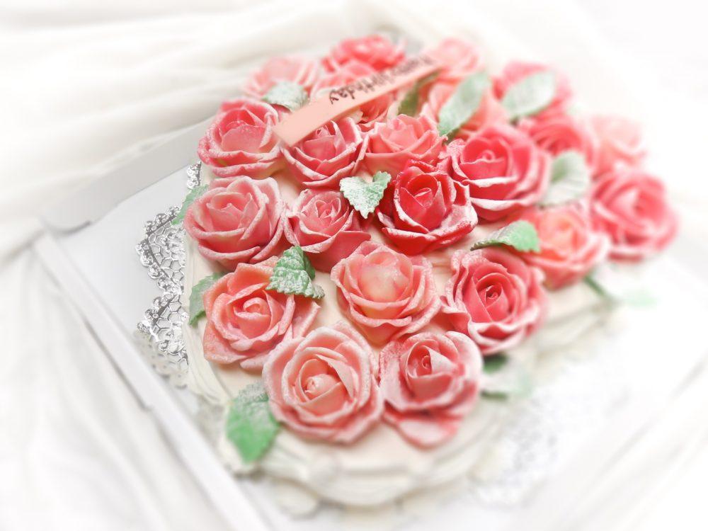 花のケーキ バラ