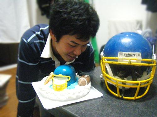 お客さまとケーキ