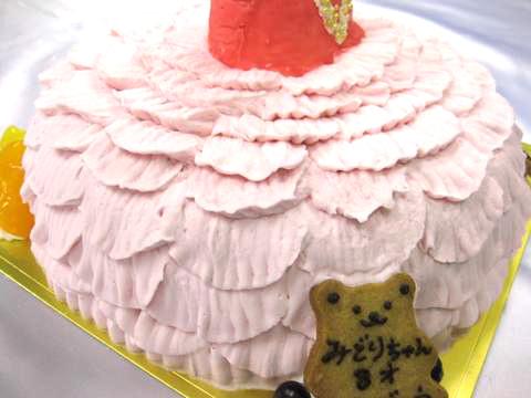 バレエ・ドレスのケーキ