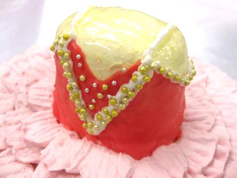 バレエのケーキ