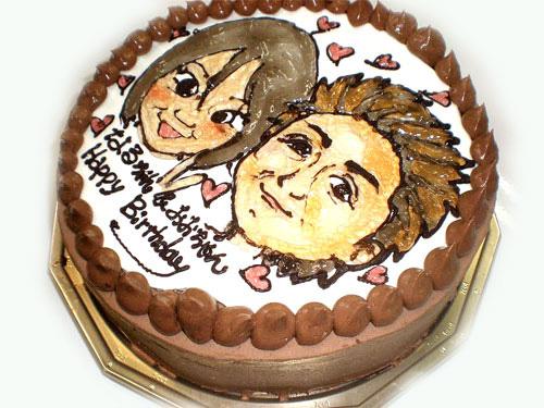 似顔絵ケーキ オーダーメード