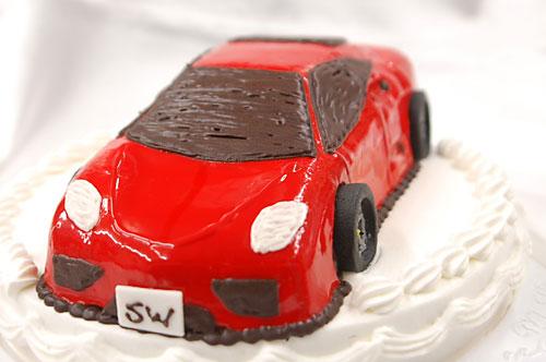 車のケーキ(KBCテレビ)