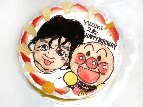 似顔絵ケーキ 誕生日