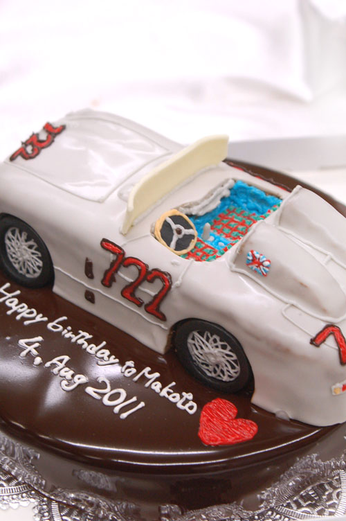 車のケーキ メルセデスベンツ300SLR