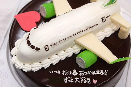 飛行機のケーキ 3Dケーキ