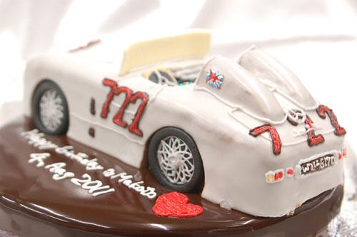 素晴らしい 車のケーキ