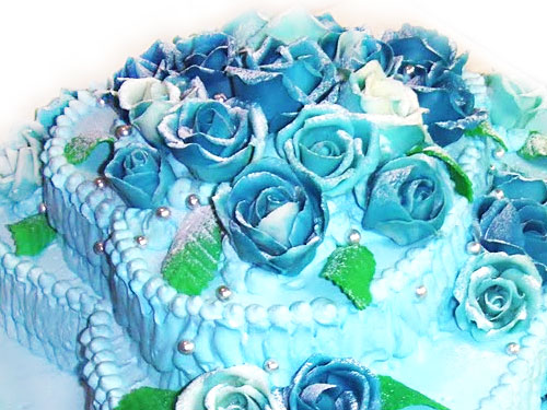 オーダーケーキ バラの花