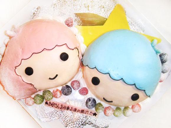 キキとララのキャラクターケーキ