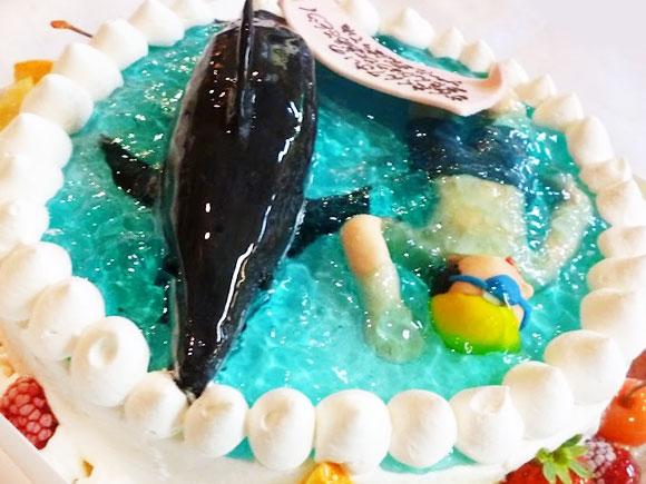 誕生日ケーキ スイミング