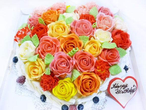 花のケーキ バラ 3Dケーキ