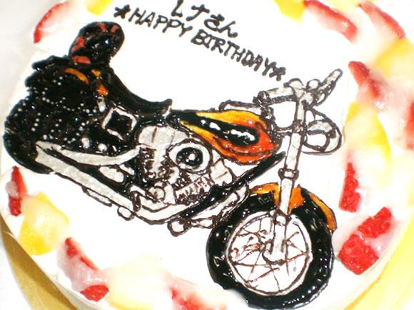 バイクのケーキ イラスト