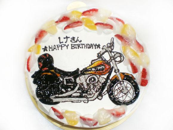 イラストケーキ バイク
