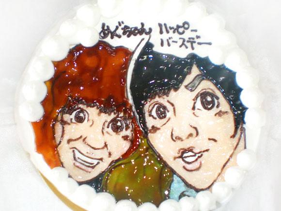 似顔絵ケーキ ふたりの似顔絵