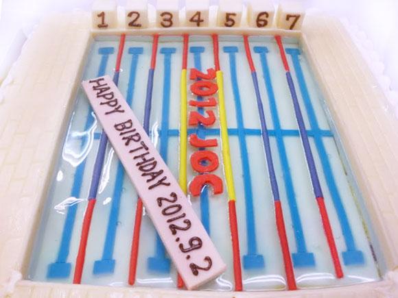 プール ケーキ