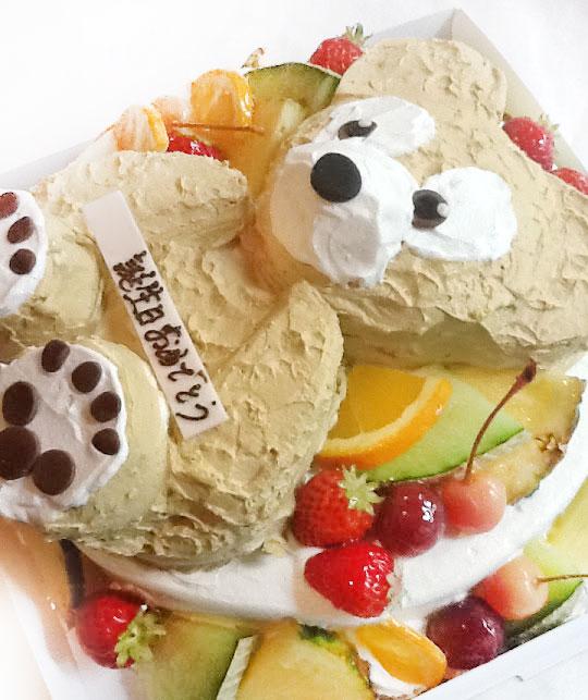 ダッフィの誕生日ケーキ