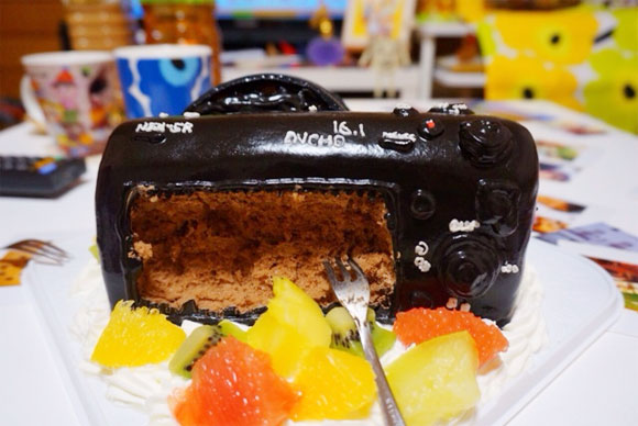 カメラのケーキ