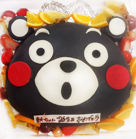 くまモン立体ケーキ