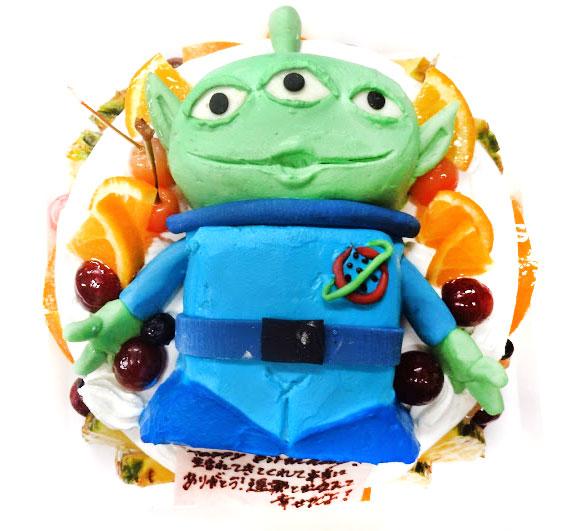 3Dケーキ リトルグリーンメン