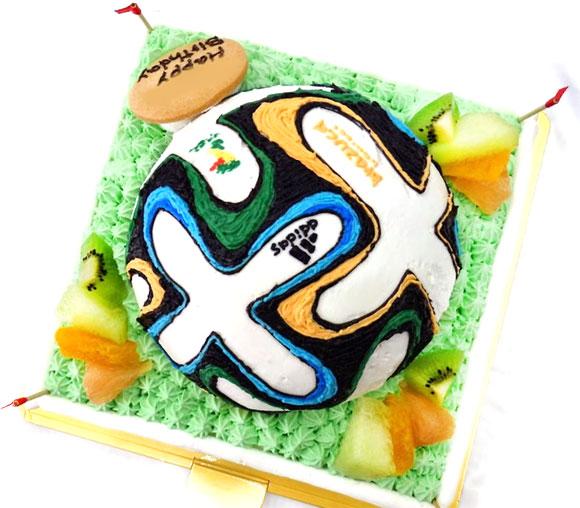 サッカーボール3Dケーキ 2014年 W杯