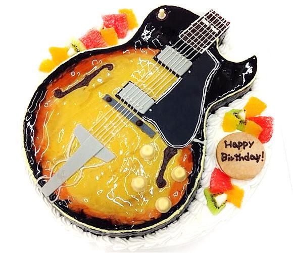 ギターの誕生日ケーキ