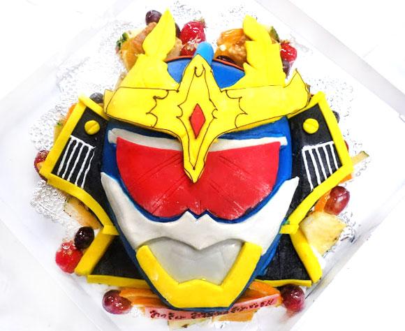 仮面ライダー鎧武(ガイム)カチドキアームズ3Dケーキ