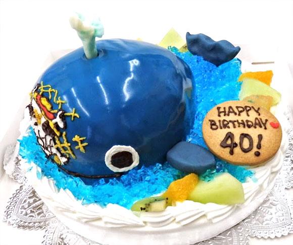 ワンピース・ラブーンの3Dケーキ