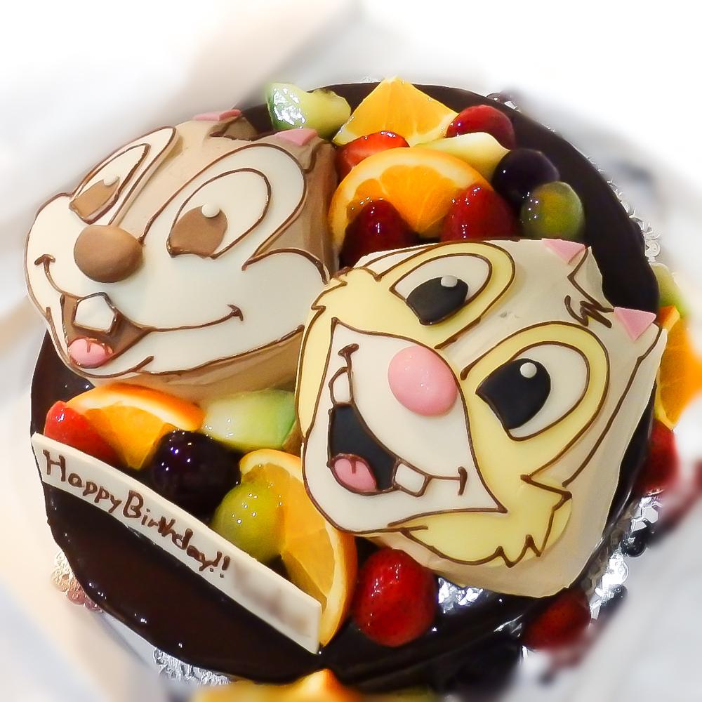 チップとデールのキャラクターケーキ-2