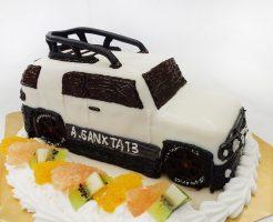 FJクルーザー車の3Dケーキ