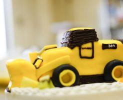 ホイールローダー3Dケーキ
