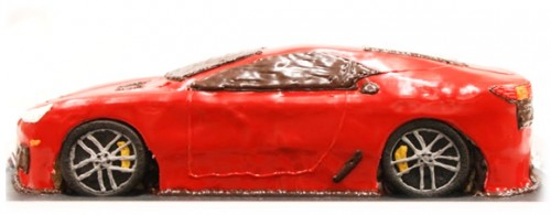 レクサス車の3Dケーキ