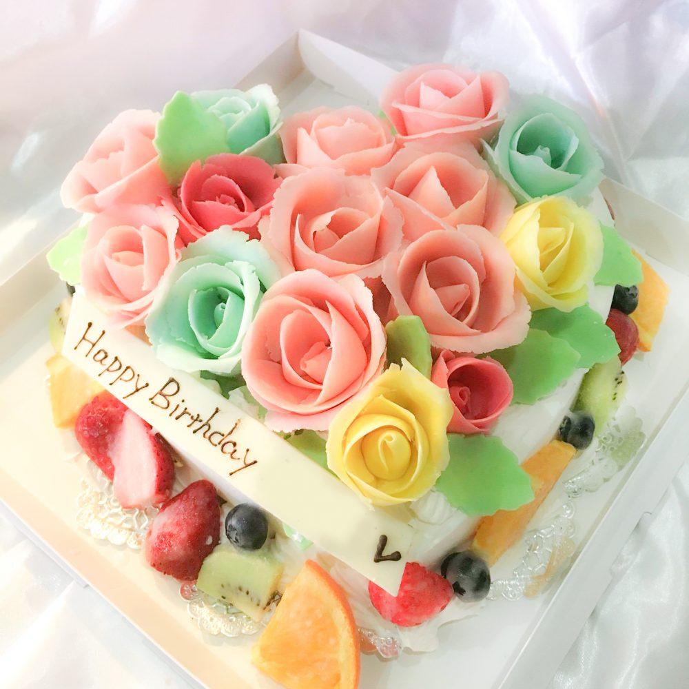 バラのオーダーケーキ-1