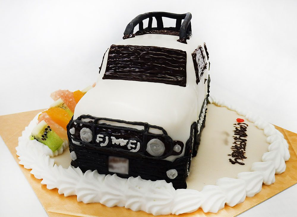 FJクルーザー 車のケーキ