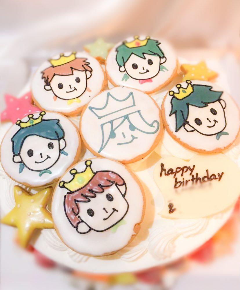 嵐 アイシングクッキー オーダーケーキ