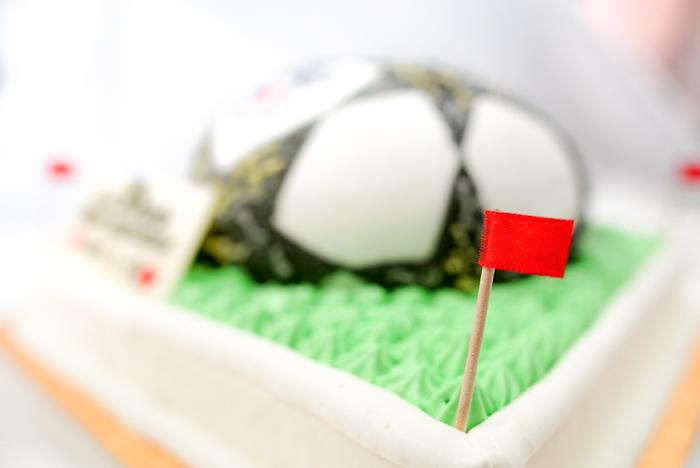 サッカーボールの3Dケーキ-1-14