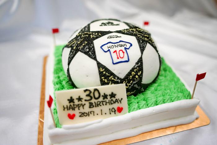 サッカーボールの3Dケーキ-1-10