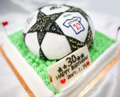 サッカーボールの3Dケーキ-1-12