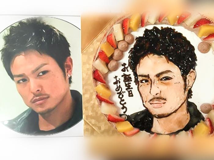 似顔絵ケーキ2