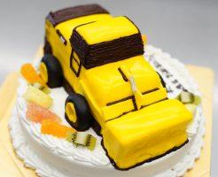 誕生日ケーキ ホイールローダー