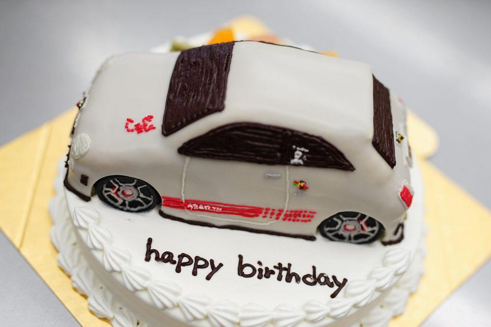 アバルト3Dケーキ