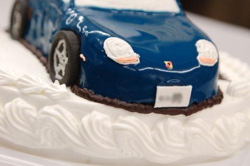 ポルシェ・ボクスターのケーキ
