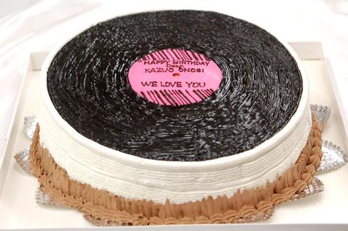 レコードのケーキ
