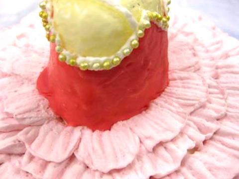 バレエ衣裳のケーキ