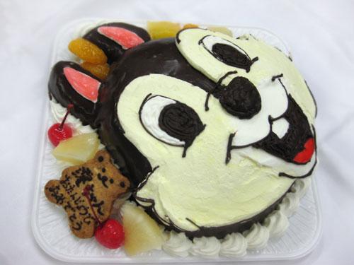 チップのキャラクターケーキ